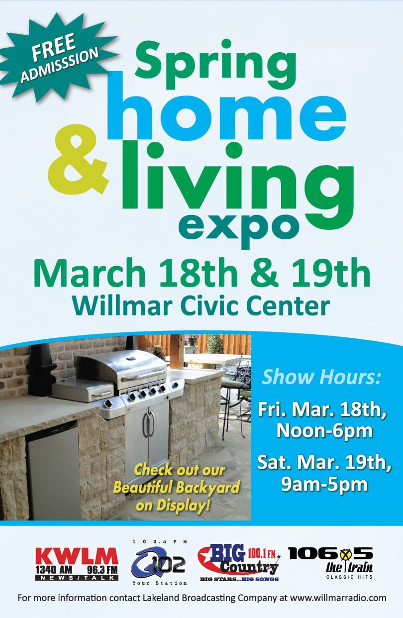 Spring home living expo march 18th 19th willmar for Larson home furniture marshall mn